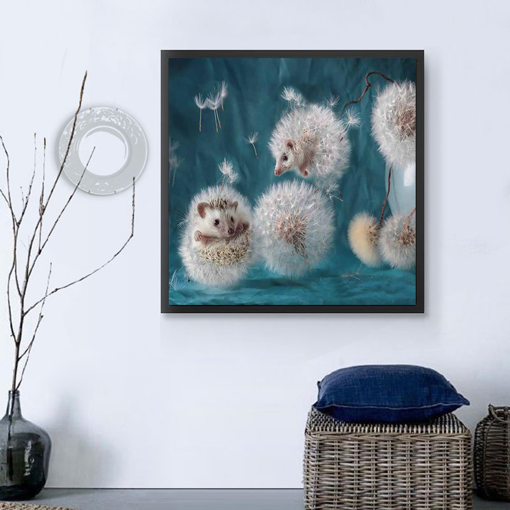 5D Dandelion Hedgehog Diamond Painting Mosaic Embroidery DIY Cross Stitch WST