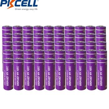 50pcs PKCELL 3.6V ER14505 14505 2400mah AA LiSCLO2 Battery Superior LR6 R6P 1.5V Batteries For GPS Tracking Cameras