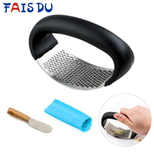 Multifunctional  Stainless Steel Ginger Garlic Press Grinding Grater Planer Slicer Mini Cutter Kitchen Cooking Gadgets Tool