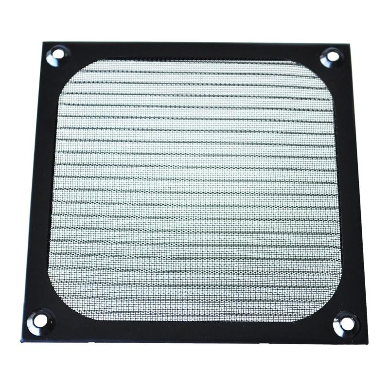 HOT-12cm X 12cm PC Cooler Fan Aluminum Dustproof Meshy Filter Black