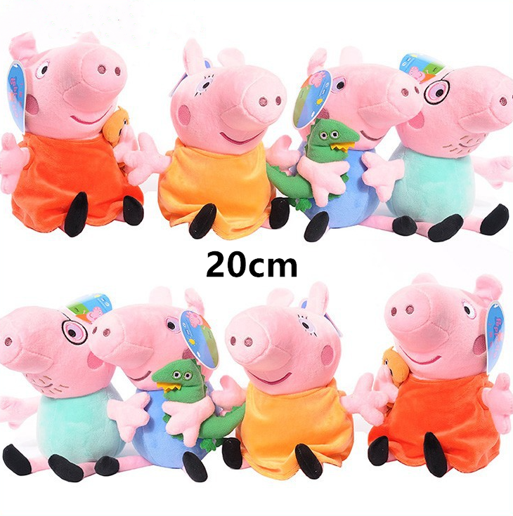 Original Peppa Pig George Family Cartoon Anime Figure Stuffed Plush Toys Dolls Party Decorations Girl Toy Child Birthday Gift