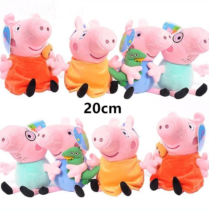 Original Peppa Pig George Family Cartoon Anime Figure Stuffed Plush Toys Dolls Party Decorations Girl Toy Child Birthday Gift