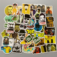 50pcs Breaking Bad Stickers Creative design Doodle laptop lugggae wall Stickers Luggage Motorcycle PVC Waterproof Decal Sticker