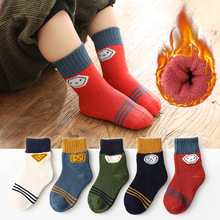 Toddler Infant Socks Warm Thicken Baby-Girl Winter Cotton Cartoon Cute 5-Pairs/Lot