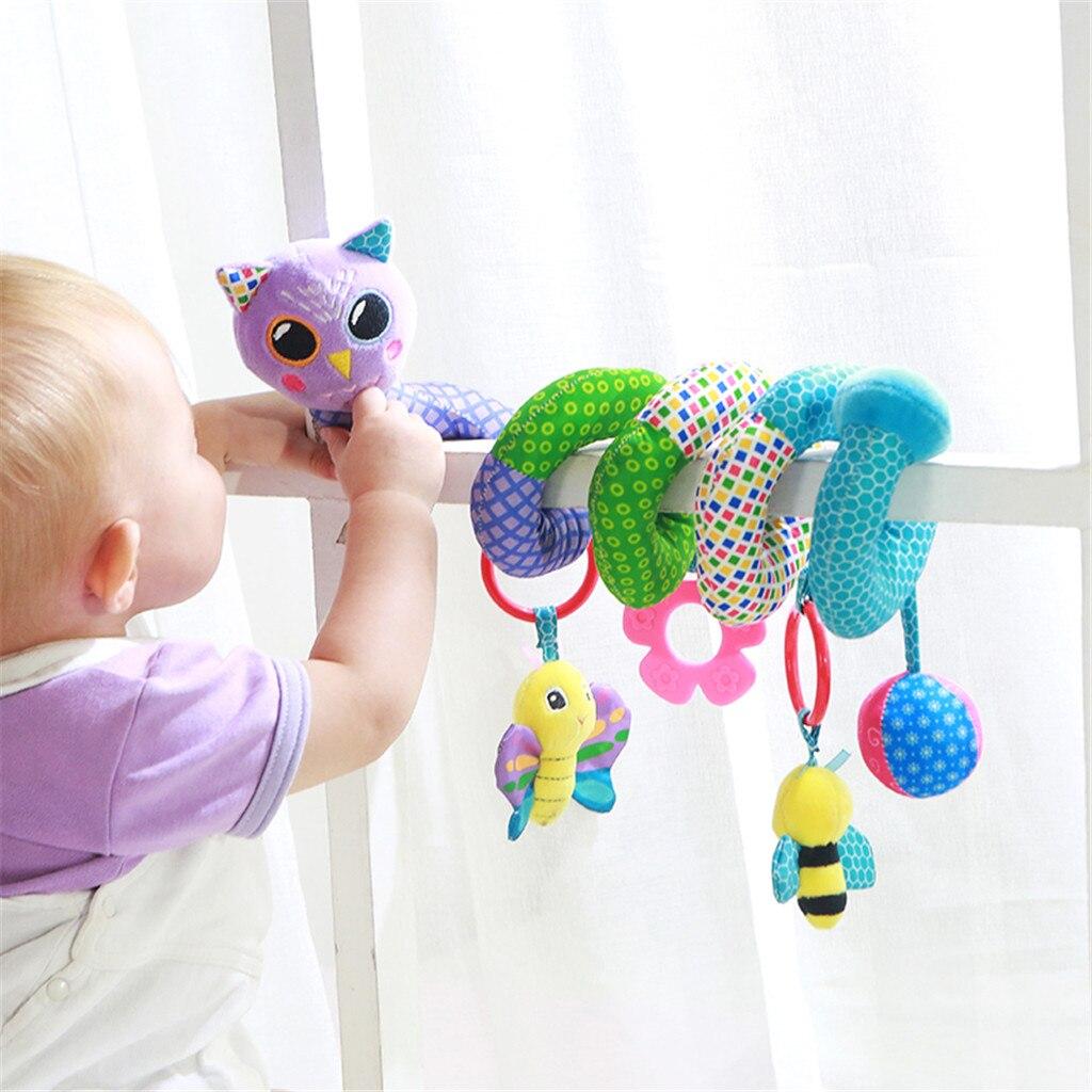 Плюшевая погремушка для новорожденных, игрушка в виде совы, животных, подвесной колокольчик, детская коляска, корзина, сиденье, кукла, подвеска для новорожденных, подарок на день рождения, 5 шт.