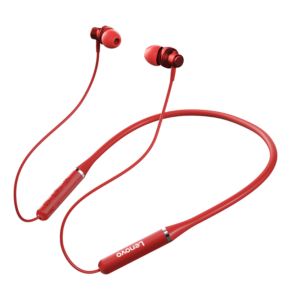 2020 Lenovo HE05 Bluetooth <font><b>5</b></font> Neckband Earphone Wireless Stereo Sports Magnetic Headphones Sports Running IPX5 Waterproof Headset image