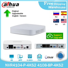 Dahua 4K 8MP POE NVR NVR4104-P-4KS2 NVR4108-8P-4KS2 4CH 8CH H.265+ Mini Video Recorder ONVIF For IP Camera CCTV Security System
