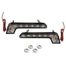 2 шт. в упаковке, дневной ходовой светильник, водонепроницаемый дневной ходовой DRL светильник для любой погоды, дневной ходовой светильник, комплект для мотоцикла DRL светодиодный