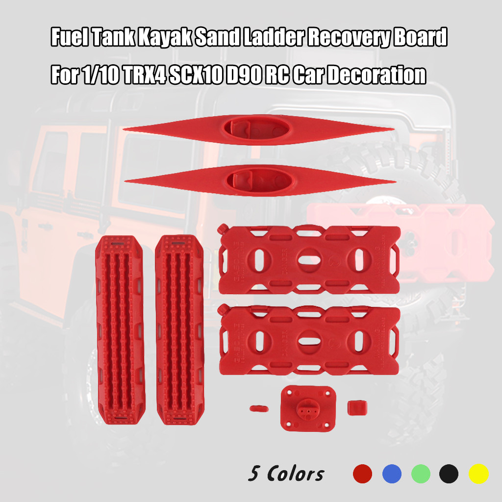 Kids Toys For Children Juguetes RC Car Decor Model Kit Fuel <font><b>Tank</b></font> Kayak Sand Ladder Recovery-Board For 1/10 TRX4 SCX10 D90 image