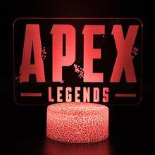 ノベルティ Apex 伝説ナイトライトアクションフィギュアアイアンマン色変更可能発光のおもちゃ子供誕生日クリスマスギフト