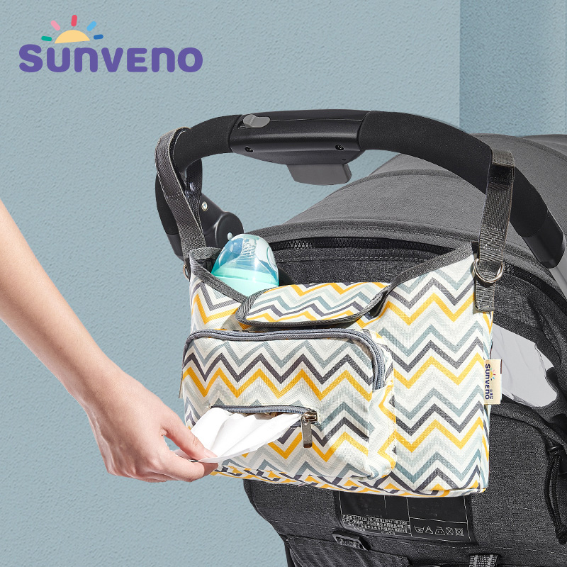 SUNVENO Baby Strollers Bag Organizer Waterproof Diaper Nappy Bag Stroller Accessories Baby Bags For Mom