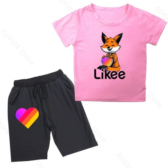 Фото likee app boys girls clothing set kid boy girl clothes new summer цена