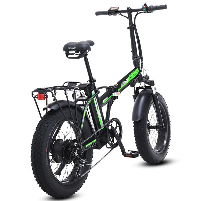 Электрический велосипед, 20 дюймов, складной электрический велосипед, 500 Вт, 48 В, батарея для горного велосипеда, электровелосипед, Электриче... - 4