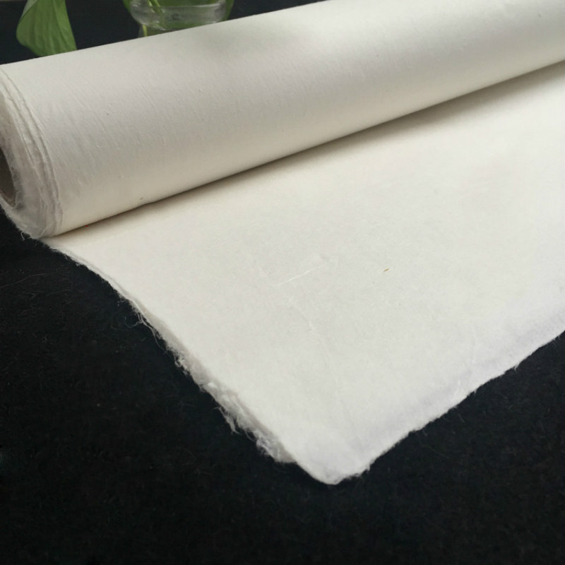 Chinese Painting Rice Paper 10sheets Calligraphy Paper Handmade Half Ripe Fiber Xuan Paper Papel Arroz Yunlong Mulberry Paper