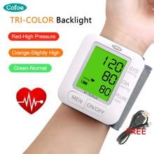 Cofoe USB akumulator/bateria cyfrowy nadgarstek Monitor ciśnienia krwi Sphygmomanometer sprzęt medyczny zdrowie tonometr CE