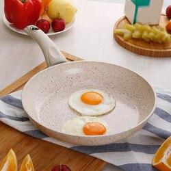 Aluminiowa patelnia z powłoką nieprzywierającą naczynia do gotowania naleśnik jajko garnek bezdymny kuchenka narzędzie kuchenne fq ing w Garnki do fondue od Dom i ogród na