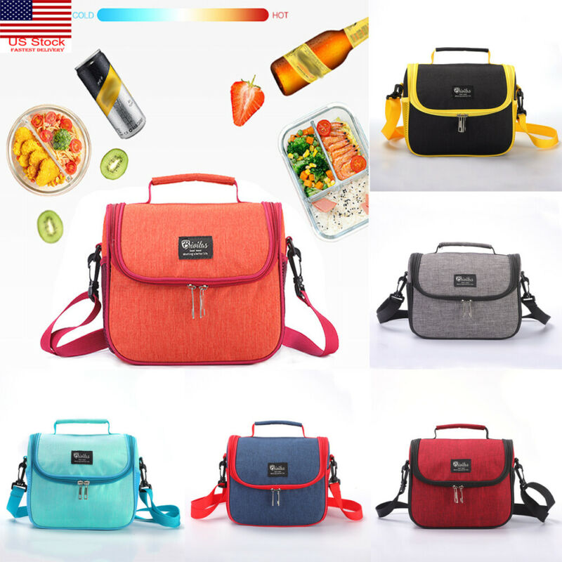 Lunch Box Bag Tote Hot Cold Insulated Thermal Cooler Work School Travel Picnic