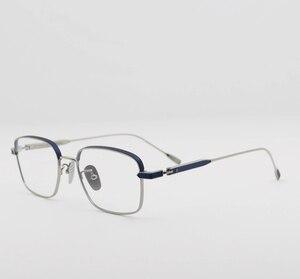 Оптовая продажа, оправы для очков для женщин и мужчин, винтажные очки-авиаторы ручной работы, дизайнерский титановый синий светильник, опти...