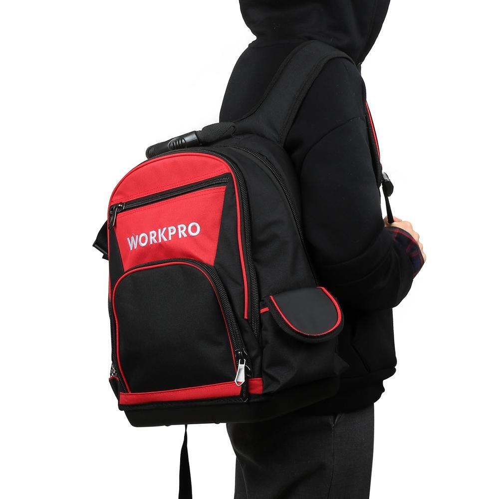 WORKPRO 2020 New Tool Bag Zaino da 17 '' Organizer impermeabile Borsa - Portautensili - Fotografia 2