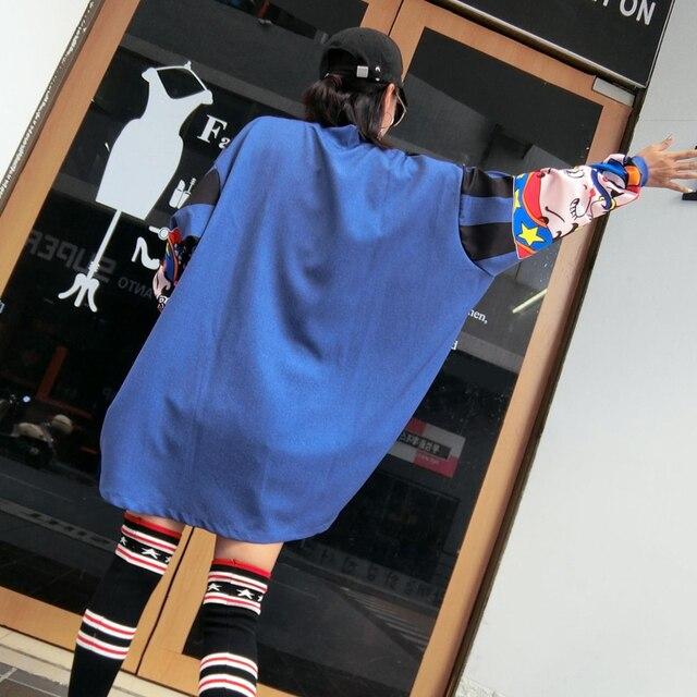 XITAO imprimer Harajuku femmes dessin animé vestes grande taille japonais Streetwear manches chauve-souris surdimensionné femmes manteau irrégulier WYR089