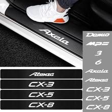 Для Mazda Speed Axela Atenza CX-3 CX-5 MS 3 6 MPS аксессуары 4 шт./компл. Автомобильная виниловая дверь из углеродного волокна