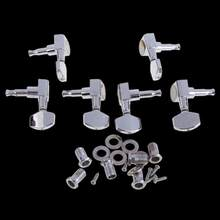 6 Chrome Guitar String Tuning Pegs Tuners Machine Heads Acoustic Electric Musical Instrument Guitar Left Right Tuners(China)