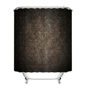 Image 5 - LB Black Damask Baroque Shower Curtain Bathroom Luxury Vintage Art Abstract Flower Waterproof Polyester Fabric For Bathtub Decor