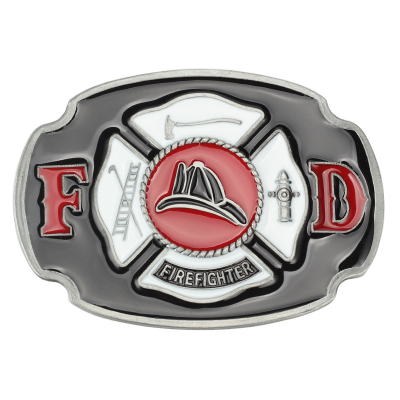 Fireman  Fighter Belt Buckle Belt DIY Components Homemade Handmade Belt Accessories Fire Truck Waistband Buckle