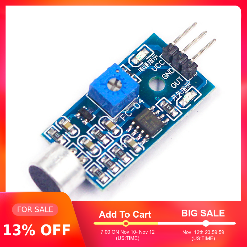 3pin Voice Sound Detection Sensor Module Intelligent Smart Vehicle Robot Helicopter Airplane Aeroplane Car For Arduino DIY KIT