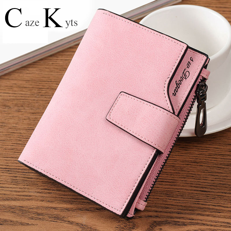 New Ladies Short Wallet Female Zipper Buckle Wallet Card Bag Fashion Simple Fresh Large Capacity Wallet Free Shipping