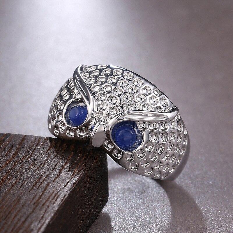 2020 модное Ювелирное кольцо с совой, креативное Гальваническое кольцо для женщин, свадебный подарок