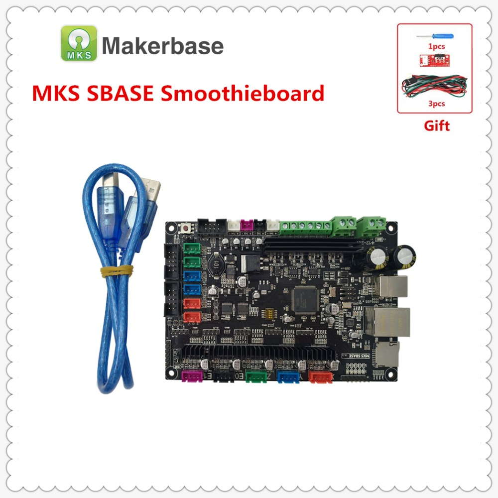 3D Printer Spare Controller Motherboard MKS SBASE V1.3 ARM 32-bit Cortex For Smoothieware Integrated Microcontroller Open Source