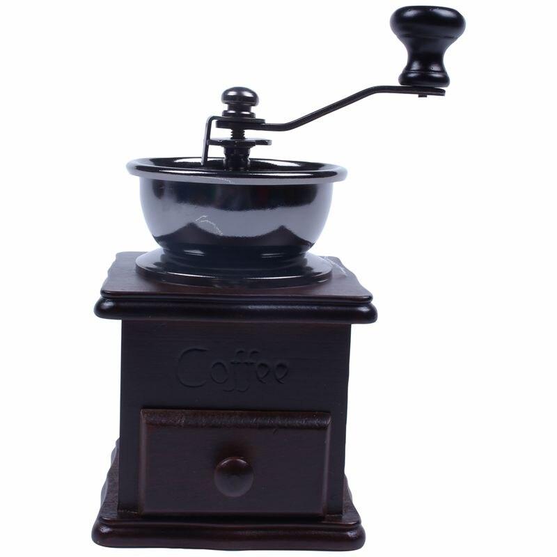 Мини деревянная бобовая кофейная специя Винтажный стиль ручная шлифовальная машина