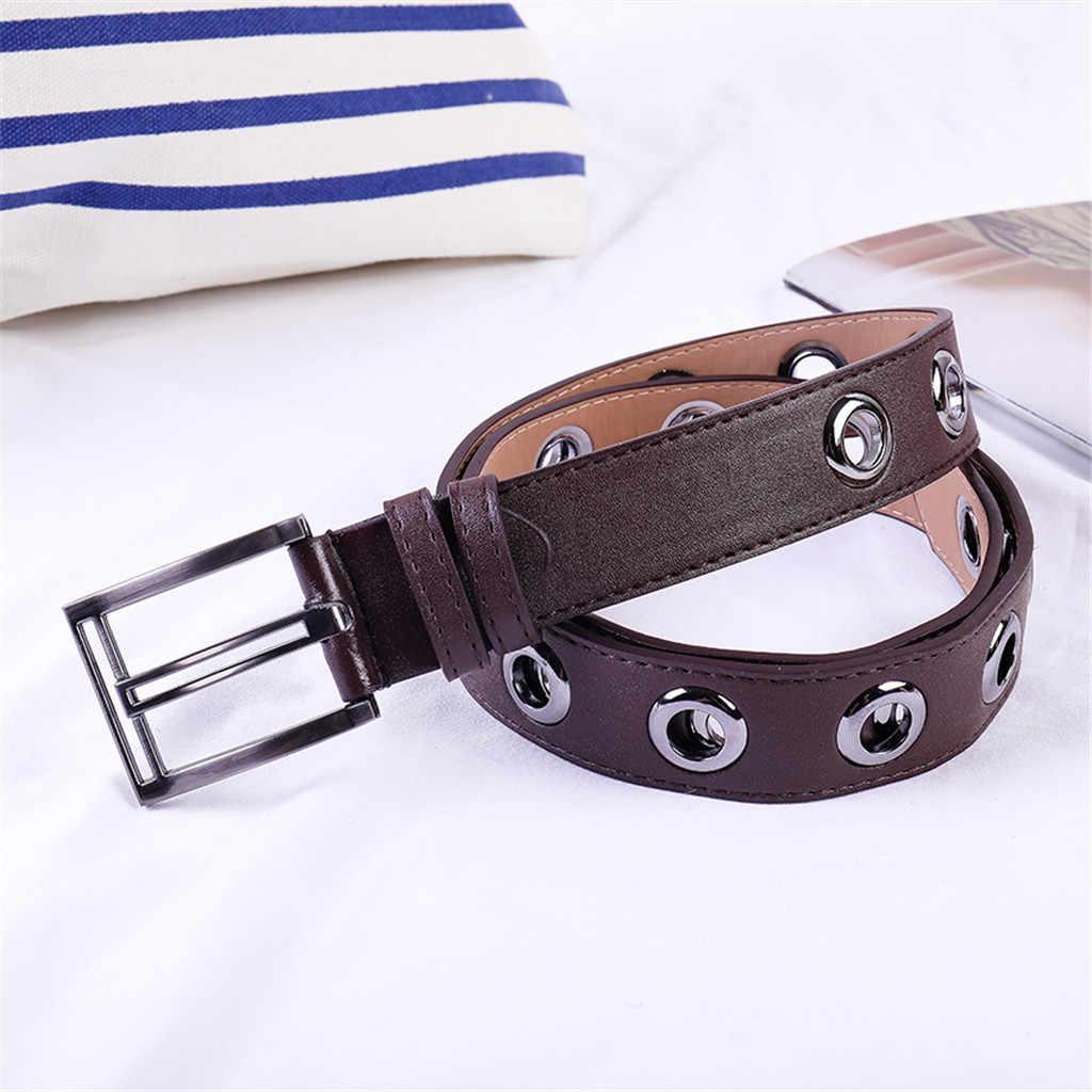 SAGACE Best Women Belt Imitation Leather Pin Buckle Belt Cool Girls New Punk Wind Jeans Fashion Individual Decorative Chain Belt