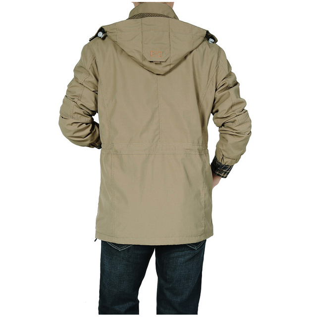 DIMUSI Men's Jackets Casual Outwear Hiking Windbreaker Hooded Coats Fashion Army Cargo Bomber Jackets Mens Clothing 4