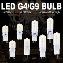 G4 LED Light G9 Bulb 220V Lamp LED Candel Bulb 240V Mini Bombilla Indoor Галоген Энергия Экономия Освещение Ночь Ампула SMD 2835