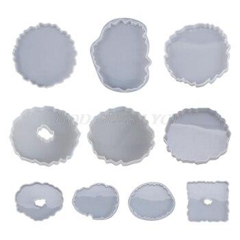 Molde de resina de cristal de silicona Epoxy, posavasos de onda Irregular, molde de fundición hecho a mano, artesanías, herramientas de decoración