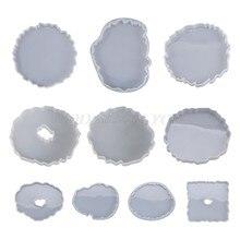 Silikon kristal epoksi reçine kalıp düzensiz dalga Coaster Mat döküm kalıp el yapımı DIY el sanatları dekorasyon yapma araçları