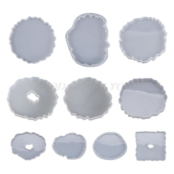 Silicone Crystal Epoxy Resin Mold Irregular Wave Coaster Mat Casting Mould Handmade DIY Crafts Decoration Making Tools - discount item  17% OFF Arts,Crafts & Sewing
