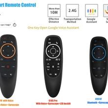 G10 G10S telecomando vocale G10S Pro G10 BTS 2.4G Wireless Air Mouse giroscopio apprendimento IR per Xiaomi Smart TV Android TV Box