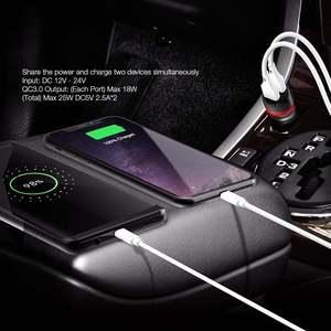 Image 4 - BlitzWolf 18W Dual QC3.0 USB Port Mini Fast Charging Car Charger for iPhone 11 Pro XS / Xiaomi / Pocophone F1 Mobile Phone