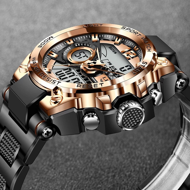 2021 LIGE spor erkek dijital saat yaratıcı dalış saatler erkekler spor spor zamanlayıcı saatler parlayan elektronik saat erkekler + kutusu