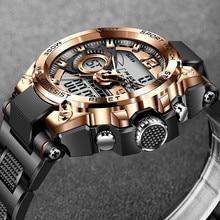 2021 LIGE Sport hommes montre numérique créatif plongée montres hommes Sport fitness minuterie montres brillant électronique horloge pour hommes + boîte