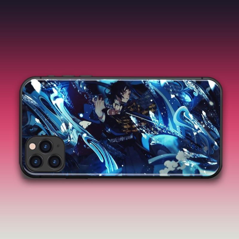 Аниме демон Slayer Tomioka Giyuu для iPhone SE 6 6s 7 8 plus x xr xs 11 Pro max закаленное стекло чехлы для телефонов Мягкий силикон