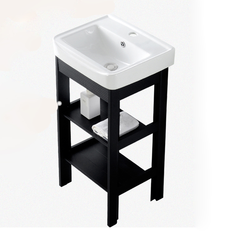 Bathroom Vanity Floor Type Small Apartment Vanity Integrated Basin Type Small Basin Type Washbasin Cabinet Combination
