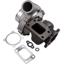 GT3582 GT35 Anti Surge Turbo Turbocharger .70 A/R .63 A/R Water + Oil Cool Universal Turbolader Turbine External Wastegate 600HP