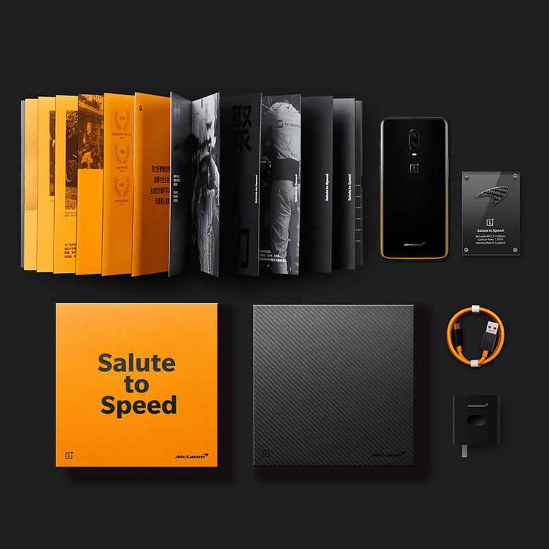 Oryginalny Oneplus 6 T 6 T McLaren smartfon 10GB pamięci RAM 256GB ROM Octa rdzeń 6.41 Cal ekran podwójny kamera NFC odblokowany telefon komórkowy