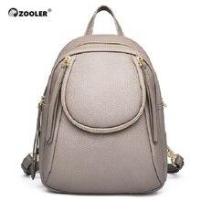 ZOOLER, новинка, рюкзак из натуральной кожи, рюкзаки из натуральной кожи, женская элегантная школьная сумка, дорожная сумка, высокое качество, Bolsas # ql201