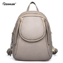 ZOOLER NEW Genuine Leather Backpack Real Backpacks Women Elegant School Bag Travel Tote High Quality Bolsas#ql201