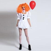 Костюм клоуна на Хеллоуин, платье Белоснежки, Стивен Кинг, взрослый Ролевой костюм, одежда для косплея, Сексуальные вечерние костюмы